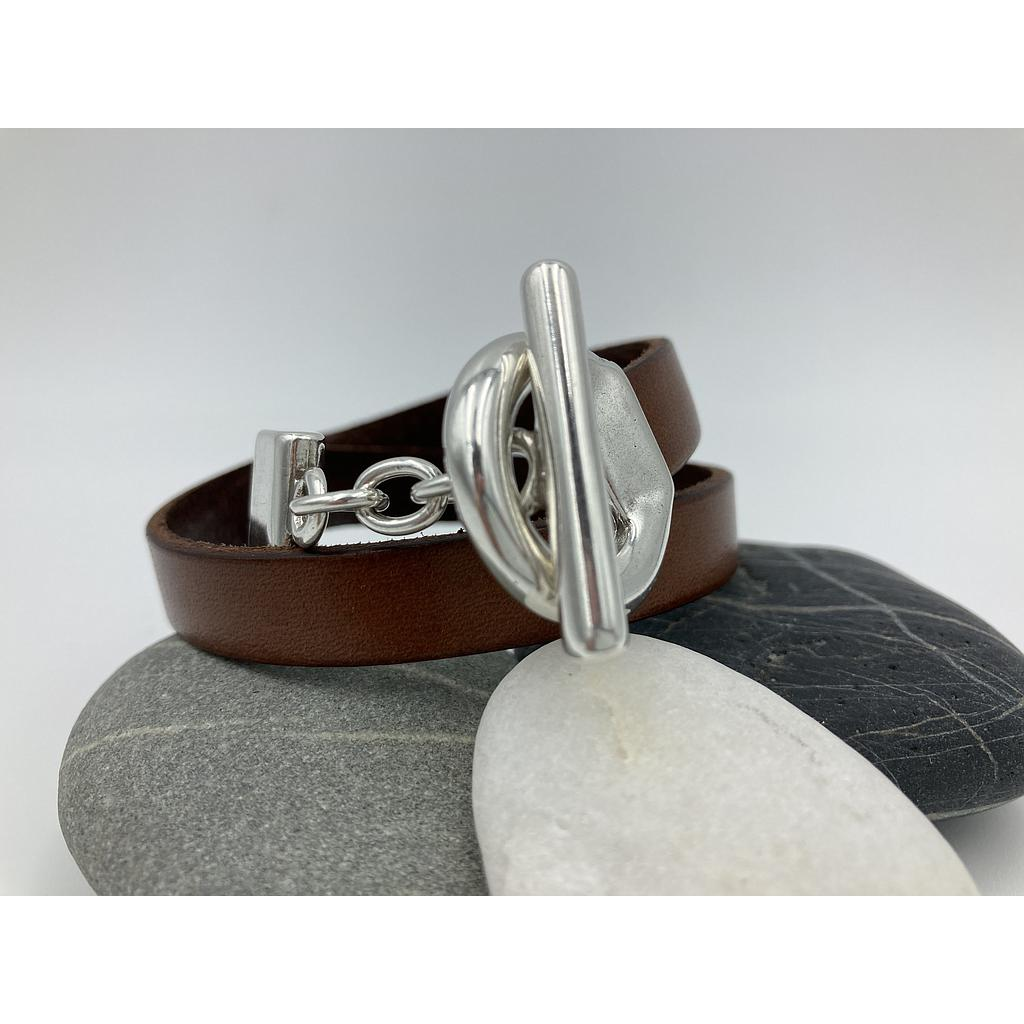 BRACELET DOUBLE MARRON TOOGLE